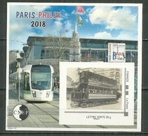 FRANCE MNH ** CNEP 78 Dentelé PHILEX 2018 PARIS Transport Train Tramway - CNEP