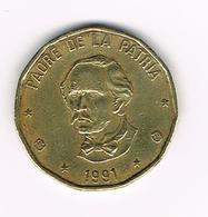 //  DOMINICAANSE  REPUBLIEK  1 PESO  1991 - Dominicana