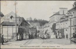 CPA 14 - Bretteville-sur-Laize, Départ Du Tramway - Gare - Andere Gemeenten