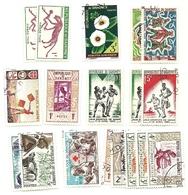 Dahomey - Lotto Di 18 Francobolli - Benin – Dahomey (1960-...)