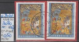 """30.11.2012 - SM """"Weihnachten-Arndorfer Altar""""  -   2x O Gestempelt Auf Briefstück - Siehe Scan (3070o X2 ABs) - 1945-.... 2. Republik"""