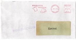 DORDOGNE - Dépt N° 24 = LAMONZIE St MARTIN 1995 = EMA ROUGE Illustrée D' Une CASQUETTE + MAILLOT + PUBLITEL - Marcophilie (Lettres)