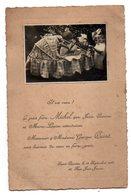 FAIRE PART DE NAISSANCE DE 1925 - AVEC PHOTO DES SOEURS ET DU FRERE AUTOUR DU BERCEAU - Naissance & Baptême