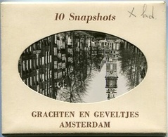 AMSTERDAM - GRACHTEN EN GEVELTJES. PHOTOSET WITH 10 SNAPSHOTS PHOTOS. CIRCA 1900's. EDIT. DRC FOTO - LILHU - Amsterdam