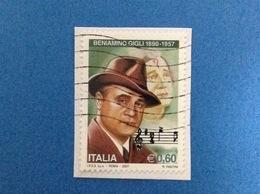 2007 ITALIA FRANCOBOLLO USATO STAMP USED BENIAMINO GIGLI - 6. 1946-.. Repubblica