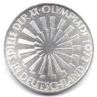 10 Mark Argent Allemagne 1972 Jeux Olympiques - [10] Commemorative