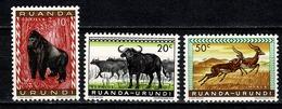 Ruanda Urundi 1959 OBP/COB 205/206**, 208**  MNH - 1948-61: Mint/hinged