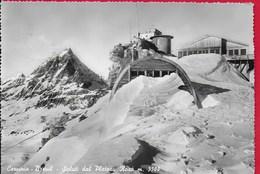 CARTOLINA VG ITALIA - CERVINIA BREUIL - Saluti Dal Plateau Rosa - 10 X 15 - ANN. 1955 - Italia