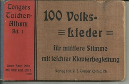 """3551 """"TONGERS TASCHEN ALBUM Bd. 1-100 VOLKS LIEDER - 1913"""" 188 PAGINE- ORIGINALE - Musica"""