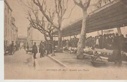 C.P. - ANTIBES - MARCHE AUX FLEURS - EN 1900 - LESTROHAN - REPRODUCTION - Antibes - Vieille Ville