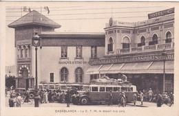 Afrique > Maroc >  Casablanca La C T M Le Départ Des Cars - Casablanca