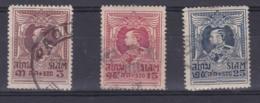 SIAM :   No  172 174 175    Oblitéré  Cote 8 € - Siam