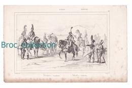 Suède, Cavalerie Et Artillerie, Gravure Branche Et H. Lalaisse, Style Augustin François Lemaître, N° 46 - Estampes & Gravures