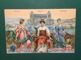 Cartolina Torino Roma Firenze Esposizioni Internazionali D'Industria - 1911 Ca. - Italia