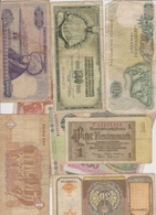 Lot De 10 Billets étrangers A Identifier - Billets