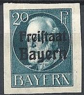"Bayern, 1919 King Ludwig III, 20Pf Ovptd ""Freistaat Bayern"" # Michel 157B - Scott 217 - Yvert 157B  MLH - Bayern (Baviera)"