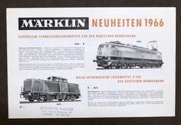 Catalogo Modellismo Ferroviario Novità - Marklin Neuheiten 1966 D - Libri, Riviste, Fumetti
