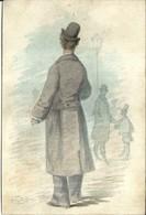 """3553 """" GENTILUOMINI NELLA NEBBIA-ILLUSTRAZIONE DI E. ALFREDO-1876"""" ORIGINALE - Andere Verzamelingen"""