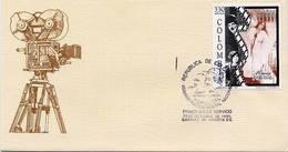Lote 1998F, Colombia, 1995, SPD - FDC, Cine, Chaplin, Woman - Colombia