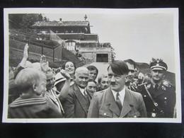 Postkarte Propaganda Hitler Hess Berghof SS Wachenfeld Obersalzberg 1937 Photo Hoffmann - Deutschland