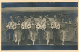 Carte-Photo Stalag VIII C Sagan Fol's Sag's Travesti Music Hall Felix Gachet War - Guerre, Militaire