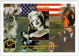 REPUBLIQUE  DU  NIGER    HISTOIRE  DU  CINEMA    MARILYN  MONROE            S.SHEET  (TIMBRATO) - Niger (1960-...)