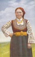 93/FP/19 - COSTUMI - COSTUME REGIONALE CAMPAGNE BULGARE (BULGARIA) - Bulgaria