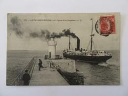 La Pallice Rochelle N°857 - Sortie D'un Paquebot - Carte Animée, Circulée En Août 1908 - La Rochelle