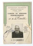CARTE DE PRESSE EXPOSITION COLONIALE PARIS 1931 - Maps