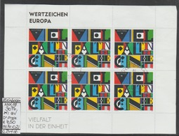 """21.1.2013 - Kpl. Kleinbogen """"Wertzeichen Europa"""" -  O Gestempelt - Siehe Scan (3076o 02 Kb) - 1945-.... 2. Republik"""