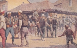 Albania - WWI , Militaria , Red Cross Postcard - Albania