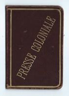 CARTE DE PRESSE CUIR EXPOSITION COLONIALE PARIS 1931 - Cartes
