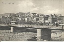 "3556 ""GENOVA-PONTE PILA""ANIMATA-TRAMWAY,CARRI A CAVALLI CARTOLINA POSTALE  ORIG. NON SPEDITA - Genova (Genoa)"