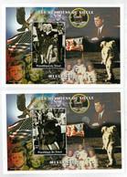 REPUBLIQUE  DU  TCHAD       MILLENIUM       MARILYN  MONROE         2   S.SHEET   (1 MNH 1 TIMBRATO) - Ciad (1960-...)