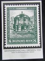 Postkarte Briefmarkenschau Dresden 1933 Gelaufen - Deutschland