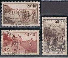 (FR 865) FRANCE //  YVERT 345, 346, 347 //  1937 - Oblitérés
