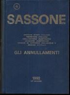 CATALOGO SASSONE 1992 - GLI ANNULLAMENTI - 51a EDIZIONE - 576 PAGG. USATO COME NUOVO - Italia