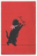 Bonne Année - Chat Noir - Black Cat - 1907 - Neujahr