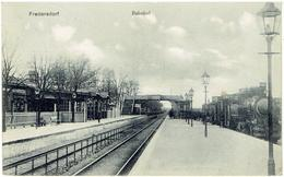 FREDERSDORF - Brandenburg - Märkisch-Oderland - Bahnhof - Dampflok - Fredersdorf-Vogelsdorf