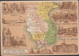 "INDOCHINE     Carte   115 X 77 Mm  ""LAOS"" MISSING By SIAM And VIETNAM  Ref.  4114 - Vietnam"