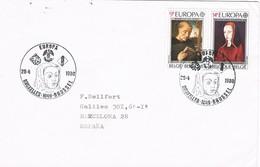 32723. Carta BRUXELLES (Belgien) 1980. Margarita De Austria. Y San Benito. Theme EUROPA - Bélgica