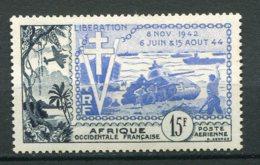 12859 A.O.F  PA17 ** 15F   10éme Anniversaire De La Libération  1954   TB/TTB - A.O.F. (1934-1959)