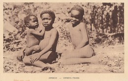 ZAMBEZE - GROUPE D'ENFANTS PAIENS - CARTE - SEPIA - - Zambia