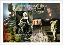 REPUBLIQUE  DU  TCHAD       MILLENIUM       MARILYN  MONROE            S.SHEET   (TIMBRATO ) - Ciad (1960-...)