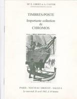 PARIS  NOUVEAU DROUOT ,,, CARTES POSTALES DE COLLECTION DE  M.  X.,IMPORTANTE COLLECTION DE  CHROMOS ,, 1983,,,, - Frans