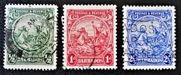 SCEAU 1925/32 - OBLITERES - YT 142/43 + 146 - MI 135A/36A + 139Ab - Barbados (1966-...)