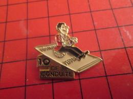 1116c Pins Pin's / Rare & De Belle Qualité  THEME : AUTOMOBILE / PERMIS DE CONDUIRE TAPIS VOLANT (pas Tapie Voleur Hein! - Pin's