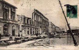LA CATASTROPHE DE MESSINE PANORAMA DU PORT - Italien