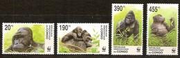 Congo 2002 Ocbn°  2110-2113 *** MNH Cote 15 Euro Faune WWF Gorilla Gorille - République Démocratique Du Congo (1997 -...)