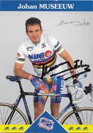 CARTE CYCLISME JOHAN MUSEEUW SIGNEE TEAM MAPEI 1997 - Ciclismo